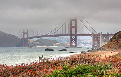Art Print featuring the photograph Foggy Bridge by Kate Brown