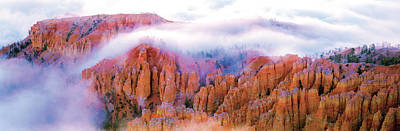Wildlife Landscape Photograph - Foggy Bryce by Gary Crandall