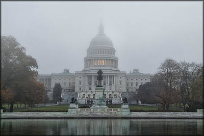 Photograph - Foggy Capitol by Erika Fawcett
