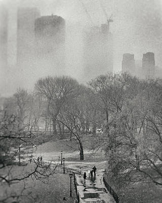 Photograph - Foggy Central Park 1994 by Dave Beckerman
