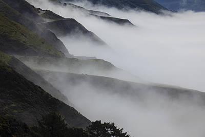 Windy Photograph - Foggy Coastal Hills by Garry Gay