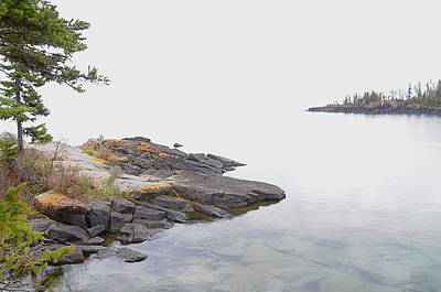 Foggy Day On Lake Superior 2 Art Print by Sandra Updyke