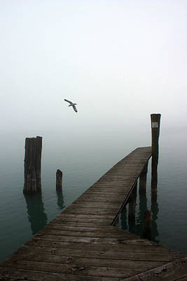 Photograph - Foggy Dock 12 by Mary Bedy