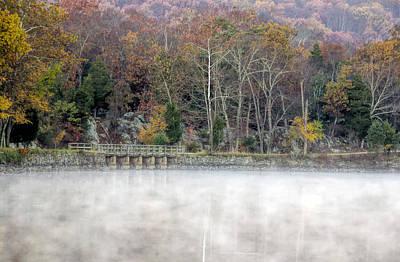 National Park Service Photograph - Foggy Fall On Maryland Towpath by Francis Sullivan