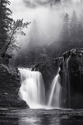 Photograph - Foggy Falls by Darren  White