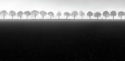 Mist Photograph - Foggy Flevopolder by Huib Limberg