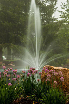 Photograph - Foggy Fountain Morning by Gene Sherrill