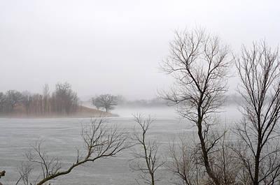 Photograph - Foggy Frozen Lake by Lynn Hansen