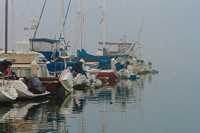 Photograph - Foggy Harbor by Ben Graham
