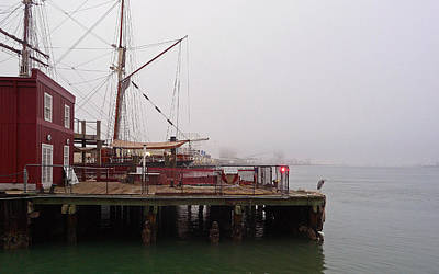 Photograph - Foggy Harbor by John Collins