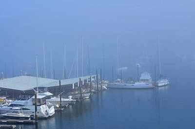 Photograph - Foggy Harbor by Tikvah's Hope