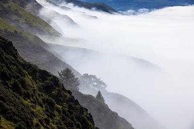 Windy Photograph - Foggy Hillside by Garry Gay