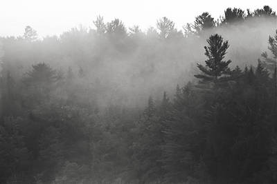 Photograph - Foggy Hillside - Norway - Maine by Steven Ralser