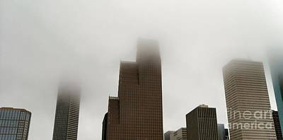 Photograph - Foggy Houston IIi by Audrey Van Tassell