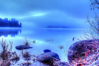 Photograph - Foggy Lake 8019 Hdr by Chuck Smith