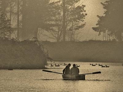 Photograph - Foggy Lake by VLee Watson