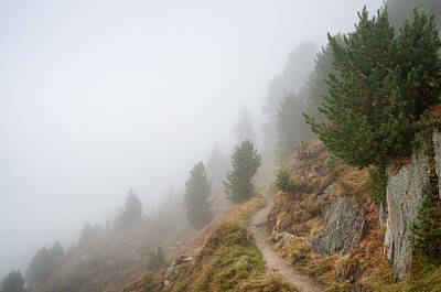 Photograph - Foggy Landscape In Valais Switzerland by Matthias Hauser