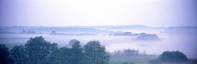Foggy Landscape Northern Germany Art Print