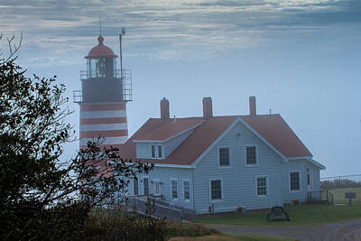 Photograph - Foggy Maine Lighthouse by Ben Graham