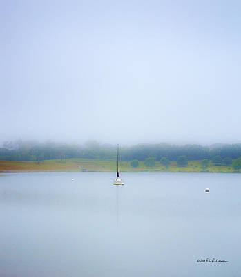 Photograph - Foggy Mooring by Edward Peterson