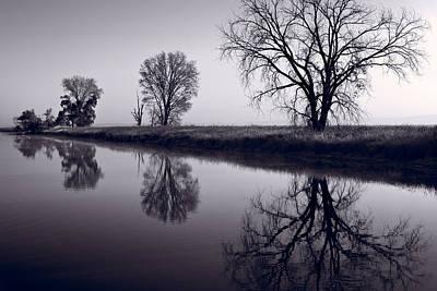 Foggy Morn Bw Original by Steve Gadomski