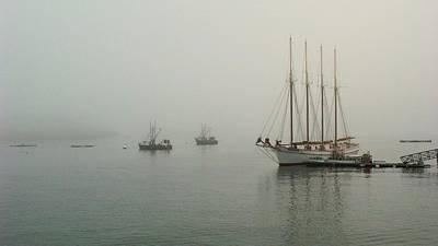 Schooner Photograph - Foggy Morn by Robert McCulloch