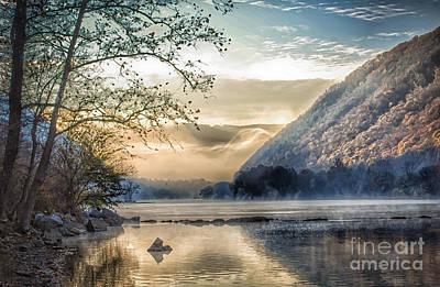 Photograph - Foggy Morning Along The New River by Kerri Farley