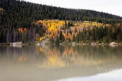 Foggy Morning At Bear Lake Print by Jon Burch Photography