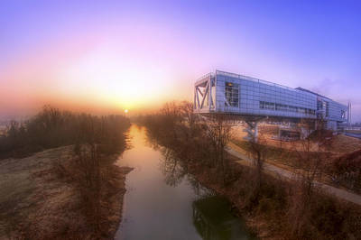 Photograph - Foggy Morning At The Clinton Presidential Library - Little Rock - Arkansas  by Jason Politte