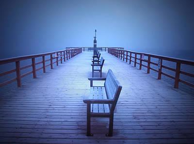 Photograph - Foggy Morning At The Pier by Tara Turner