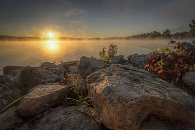 Photograph - Foggy Morning At The River Ponds by Scott Bean