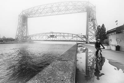 Photograph - Foggy Morning Bike Ride by Tom Gort