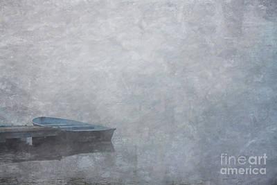 Foggy Morning Digital Art - Foggy Morning Boat On Lake by Randy Steele