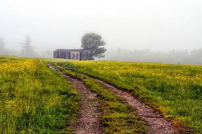 Maine Old Barn Photograph - Foggy Morning by Bob Orsillo