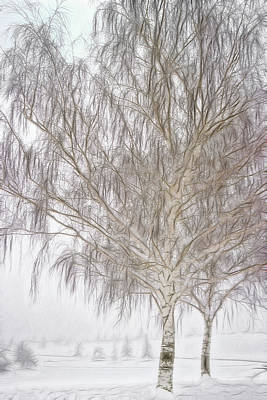 Weeping Mixed Media - Foggy Morning Landscape - Fractalius 4 by Steve Ohlsen