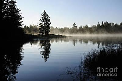 Foggy Morning Art Print by Larry Ricker