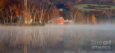 Photograph - Foggy Morning On Lake Pineo by Butch Lombardi