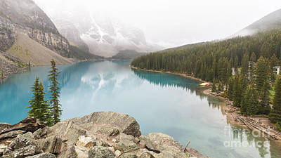 Owls - Foggy Morning on Moraine Lake by Colin D Young