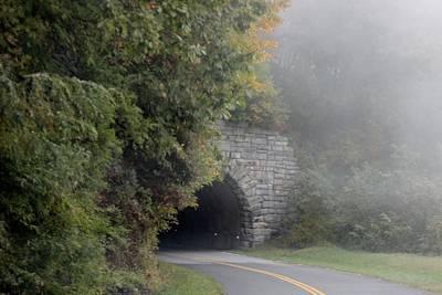 Foggy Morning On Parkway Art Print by Melony McAuley