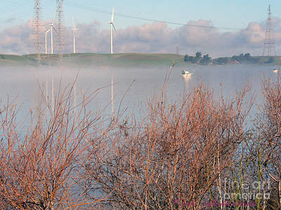 Photograph - Foggy Morning On The Sacramento River by Afroditi Katsikis