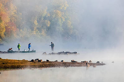 Foggy Morning St Croix River Stillwater Mn Art Print
