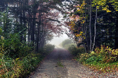 Foggy Morning - Stowe Vermont Art Print