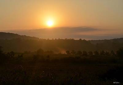 Photograph - Foggy Morning Sunrise In May by Maria Urso