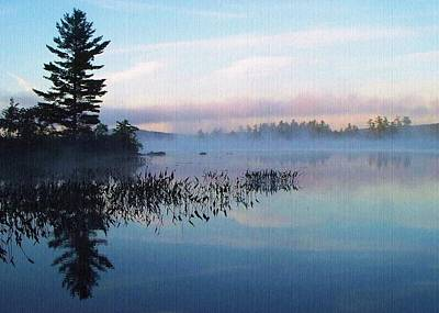 Foggy Morning's Chill -- On Parker Pond Art Print