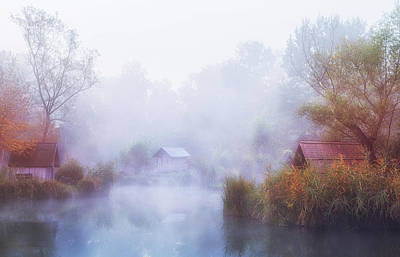 Dreamlike Wall Art - Photograph - Foggy Mornings On The Lake by Leicher Oliver
