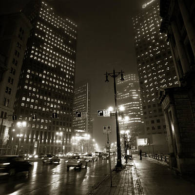 Winnipeg Photograph - Foggy Night by Bryan Scott