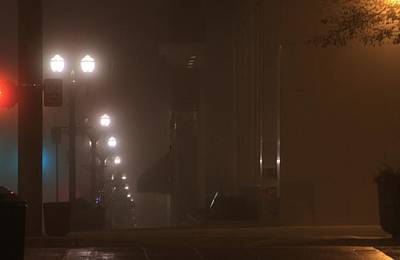 Photograph - foggy night in Everett by Donald Torgerson