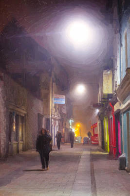 Photograph - Foggy Night In The Heart Of Galway by Mark Tisdale