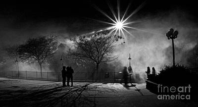 Photograph - Foggy Night by Mark Miller