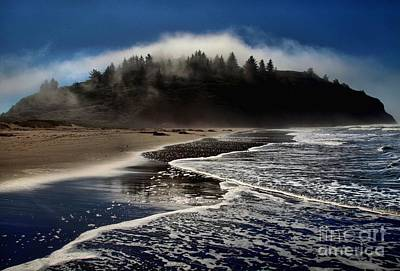 Photograph - Foggy Pacific Reflections by Adam Jewell